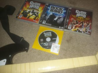 PS3 GUITARS AND GAMES for Sale in Newnan,  GA
