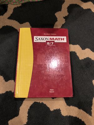 Saxon Math 8/7 + Solution manual for Sale in Avondale, AZ