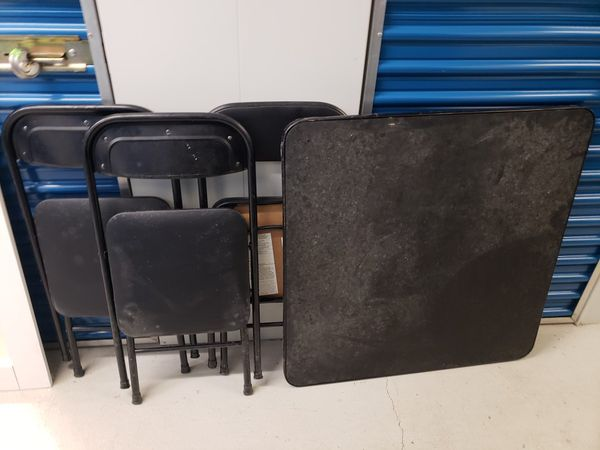 Black Folding table with chairs