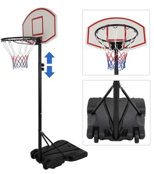 ZENY Portable Basketball Hoop Backboard System Stand and Rim for Kids Youth w/Wheels Adjustable Height 5.4ft - 7ft Indoor Outdoor Basketball Goal Gam for Sale in Norco, CA