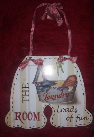 Cute Laundry Room decor 13in x 13in $5! for Sale in Ontario, CA