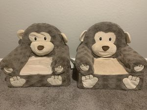 Soft Landing™ Premium Sweet Seats™ Monkey Character Chair for baby or kids for Sale in Peoria, AZ