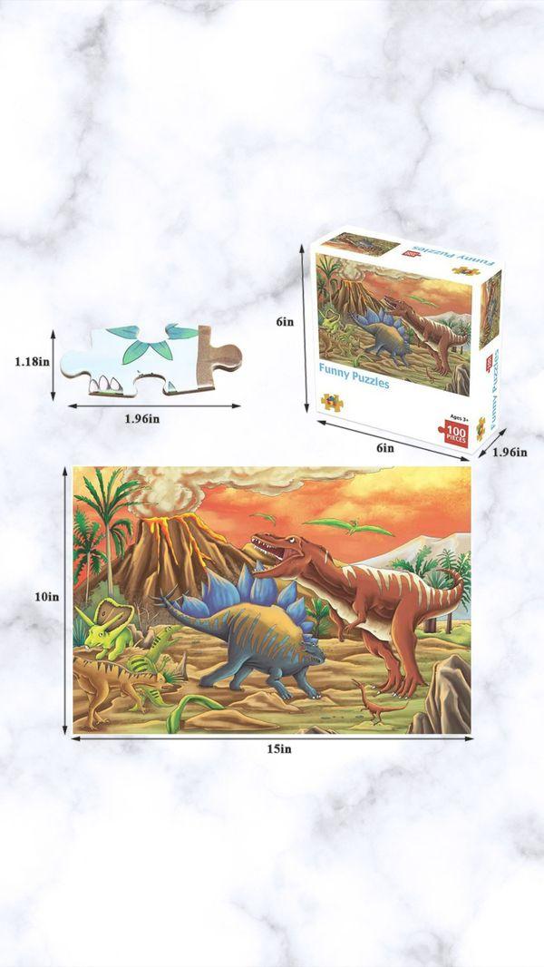 Children's 100 Piece Dinosaur Puzzle Set
