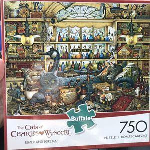 NEW!!! 750 Piece Puzzle Cats of Charles Wysocki ELMER&LORETTA for Sale in Torrance, CA