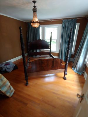 Antique mahogany full/double size bed for Sale in Gilmer, TX