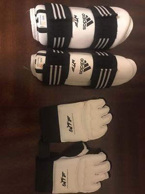 WFT gloves and shin protector for Sale in Miami Shores, FL