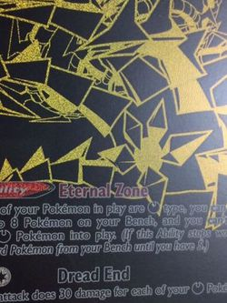 Eternatus V Max Black And Gold Secret Rare Pokemon Card ! for Sale in Houston,  TX