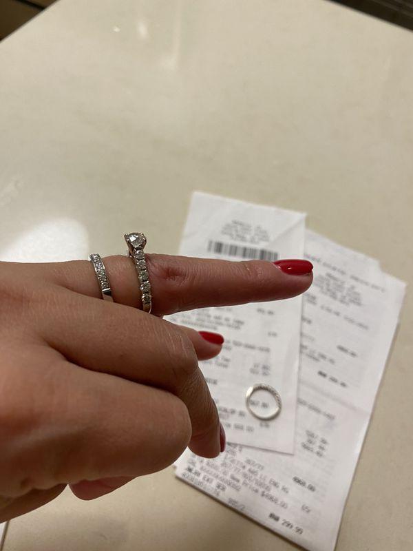 Wedding Ring Set Size 4.75