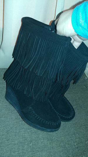 Leather fringe boots for Sale in Swatara, PA