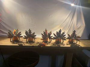 6 pc Turkey Candle Holder Set for Sale in Nashville, TN