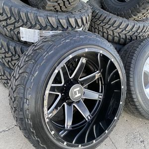 22x14 4 used Wheels & tires 33x12.50R22 M/T for Sale in Gilroy, CA