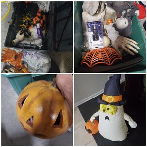 Halloween decorations- pumpkin, inflatable boo, lights for Sale in Riverview, FL