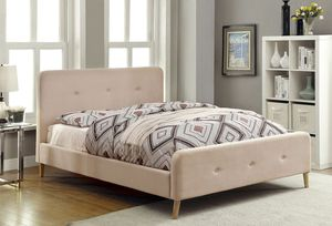 NEW LOWEST PRICE SALE...Queen beautiful new Beige Platform Bed for Sale in Denver, CO