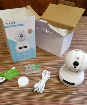 New! Indoor security camera Baby monitor baby camera nanny camera pet camera view in Iphone ipad samsung Full HD with speaker for Sale in Las Vegas, NV