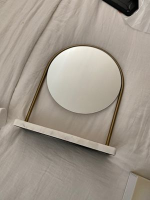 Marble Vanity table top mirror with tray for Sale in North Las Vegas, NV