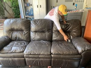 Recliner couch used works great for Sale in Riverside, CA