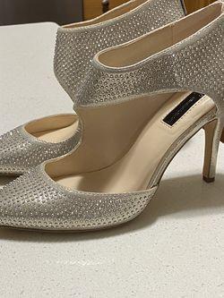 I.N.C. Silver Glitter Formal Heels Sz 8 for Sale in Knightdale,  NC