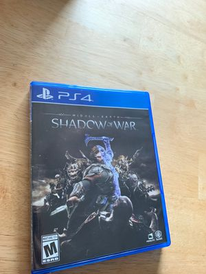 Middle Earth Shadow Of War PS4 for Sale in Lowell, MA