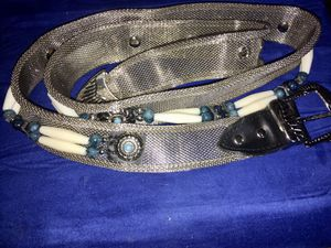 Sterling link women's belt turquoise with bone for Sale in DeBary, FL