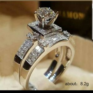 NEW NICE 18k WHITE GOLD PLATED SIMULATED HALO DIAMOND RING size 5 6 7 8 9 10 for Sale in Sacramento, CA