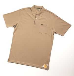 VINTAGE VTG 90s BURBERRY POLO SHIRT LARGE L MENS BEIGE TAN LONDON SOLID EQUESTRIAN KNIGHT for Sale in Los Angeles, CA