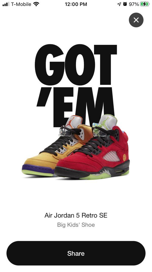 "Jordan 5 ""What The"" Size 10"