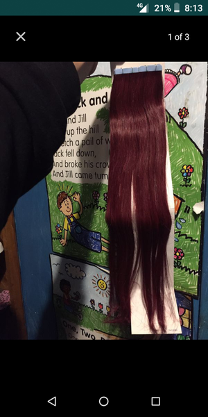 Remy hair red tape ins about 20 inches for Sale in Bell, CA