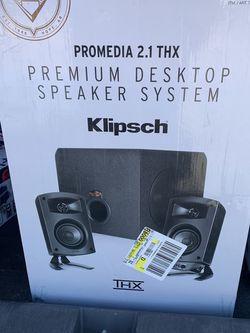 """Klipsch ProMedia 2.1 THX Computer Speakers; Two-Way Satellites' 3"""" Midbass Drivers and 6.5"""" Subwoofer for Sale in High Point,  NC"""
