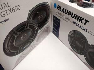 Car speakers : ( total 2 pairs ) 1 pair blaupunkt 6.5 inch 4 way 360 watts & 1 pair 6×9 4 way 450 watts car speakers for Sale in Bell Gardens, CA
