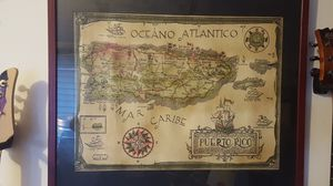 Hand painted map of Puerto Rico for Sale in Livermore, CA
