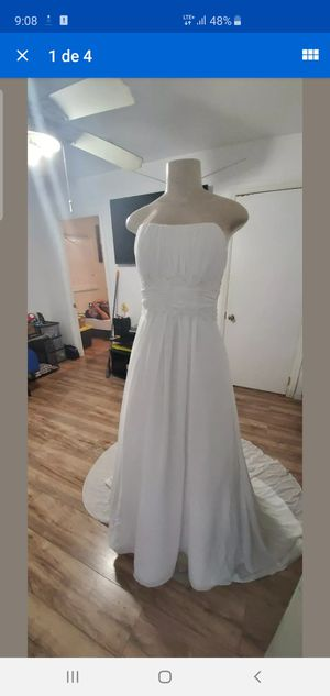 Davids bridal wedding dress size 6 for Sale in Los Angeles, CA