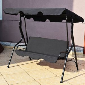 Outdoor Porch Swing Adjustable Canopy 3 Person Bench Steel Frame Cushioned Chair Swings Patio for Sale in Sacramento, CA