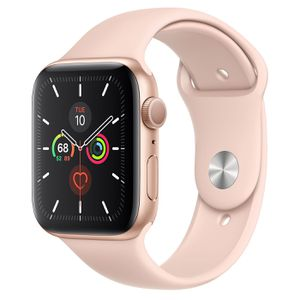 Apple Watch Series 5 GPS, 44mm Gold Aluminum Case with Pink Sand Sport Band - Regular for Sale in Escondido, CA