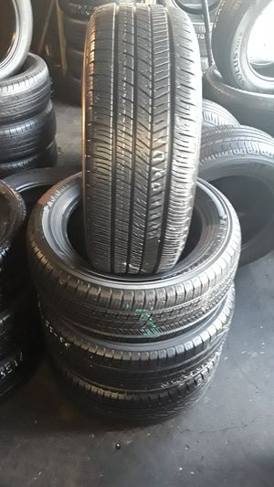 Set of four good used tires semi new 95% life 160 include Profesional instalation and tax for Sale in Whittier, CA