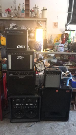Amp speaker collection peavey crate raven Ibanez for Sale in Belleville, IL