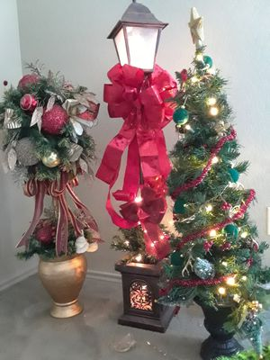 Christmas Topiary, Tree, Lantern Beautiful for Sale in Carrollton, TX