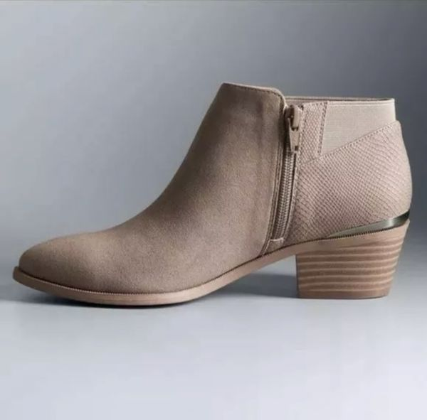 Women's SIMPLY VERA Vienna Sand / Taupe Fashion Casual Dress Ankle Boots Sz 9