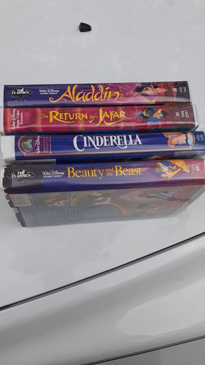 Disney Black Diamond VHS Aladdin and Beauty and the Beast for Sale in West Columbia, SC