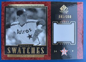 2003 Nolan Ryan Game Used Upper Deck Baseball Card Legendary Cuts SP Historic Swatches 81/350 for Sale in Fullerton, CA