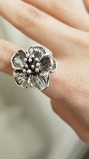 Sterling silver flower ring for Sale in Danvers, MA