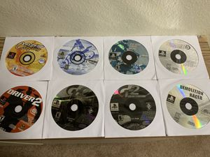 8 Ps1 racing games for Sale in Fallbrook, CA