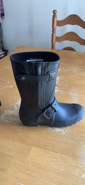 Hunter short moto rain boots size 9 for Sale in Garland, TX