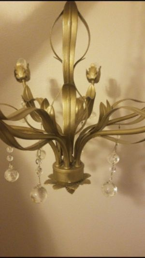 Vintage Timeless chandelier, good condition. A few scratches. Color is shiny matte hold—price is low and firm, no low ballers. Pick up only. Item loc for Sale in Los Angeles, CA