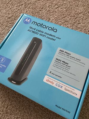 Motorola MG7540 Dual Band WiFi Router Modem for Sale in Modesto, CA