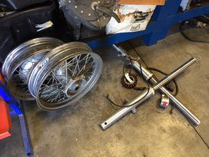 Yamaha XVS650 650 VSTAR Classic Front End Forks Shock Stator Switch Front Rear Wheel Rim for Sale in Fontana, CA