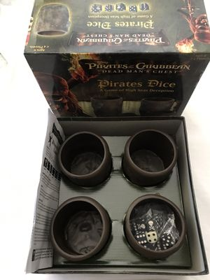 """Pirates Of The Caribbean """"Dead Man's Chest"""" Pirates Dice Game Like New for Sale in Reedley, CA"""