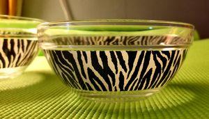 2 Super cute zebra bowls!! for Sale in Santa Monica, CA