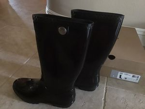 "UGG ""Shaye"" black rain boots for Sale in Banning, CA"