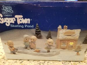 Precious moments skating pond in original box. for Sale in Litchfield Park, AZ