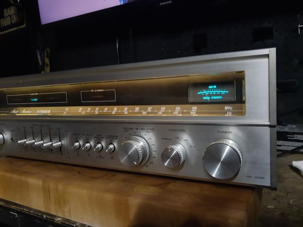 Vintage Fisher RS-2002 Stereo Receiver and Dual 1215 Turntable